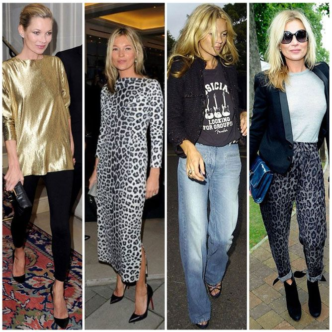 Kate Moss edgy looks